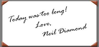 Neil Diamond dream autograph