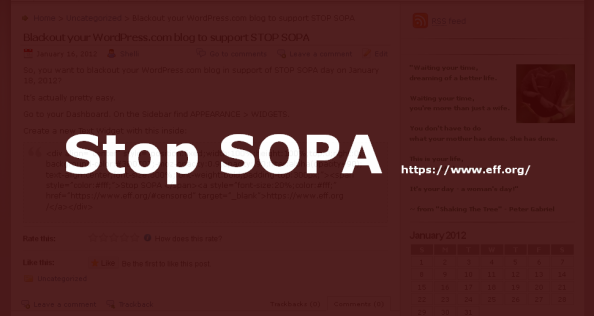 STOP SOPA Screenshot